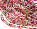 Green, Pink, Red Agate Color Mix Faceted Round 4mm