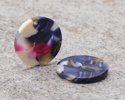 Zola Elements Twilight Acetate Coin Charm 20mm