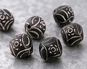 African Trade Clay Sunburst Spindle Whorl Bead 22-24mm