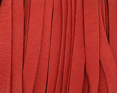 Red Deertan Leather Lace 5mm