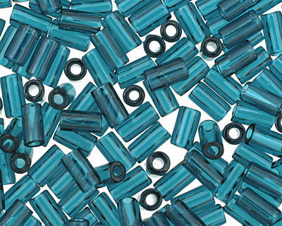 TOHO Transparent Capri Blue Bugle #1 Seed Bead