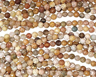 Autumn Agate Faceted Round 6mm