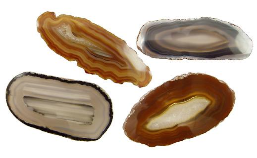 Agate Oval Slab Cabochon 28-36x70-91mm