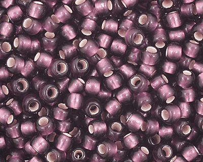 TOHO Amethyst (with Frosted Silver Lining) Round 11/0 Seed Bead