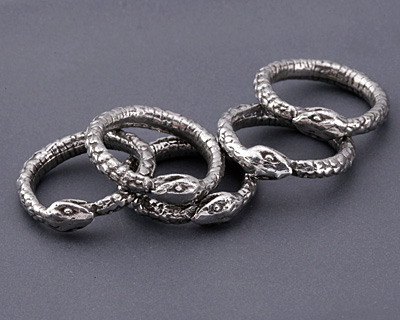 Green Girl Pewter Ouroboros Ring 24mm