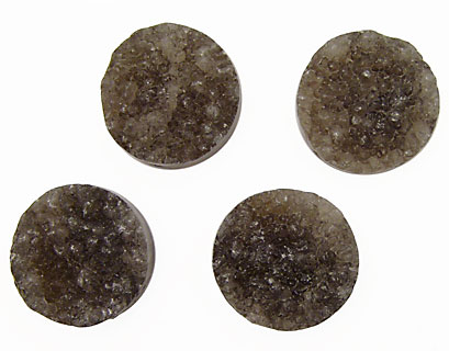 Smoky Agate Druzy Coin 25mm