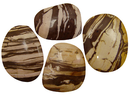 Brown Zebra Jasper Freeform Cabochon 38-58x48-75mm