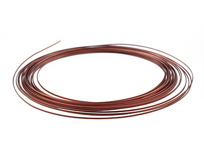 Soft Flex Non-Tarnish Antique Copper Half Round Craft Wire 21 gauge, 7 yards