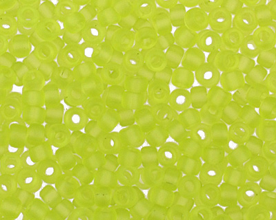 TOHO Transparent Frosted Lime Green Round 15/0 Seed Bead