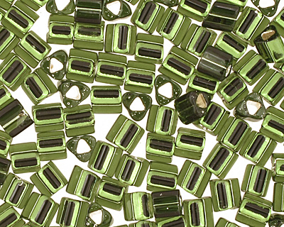 TOHO Olivine (with Silver Lining) Triangle 11/0 Seed Bead