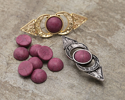 Matte Ruby Resin Round Cabochon 8mm