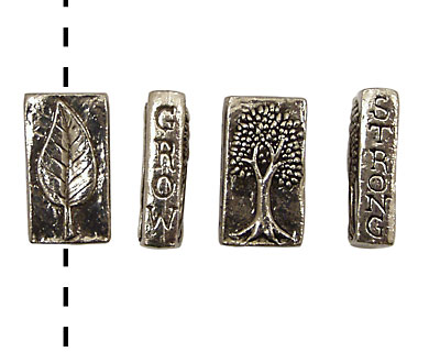 Green Girl Pewter Grow Strong 23x12mm