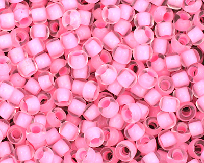 TOHO Crystal (with Neon Carnation Lining) Round 11/0 Seed Bead
