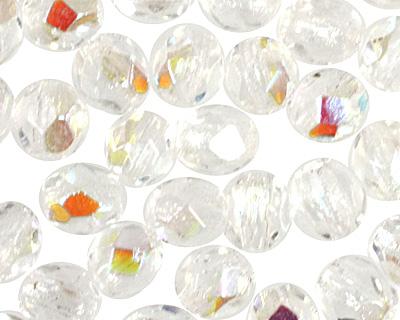 Czech Fire Polished Glass Crystal AB Round 3mm