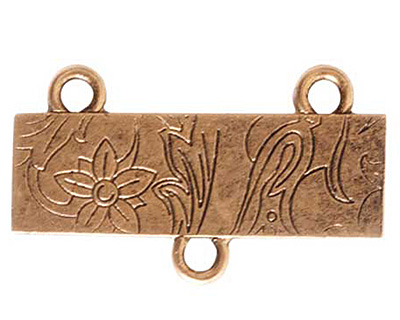 Nunn Design Antique Gold (plated) Large Thin Vine 2-1 Connector 17x30mm