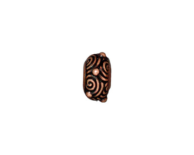 TierraCast Antique Copper (plated) Spiral Euro 6x12mm