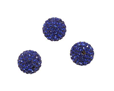 Cobalt Pave Round 12mm (1.5mm hole)