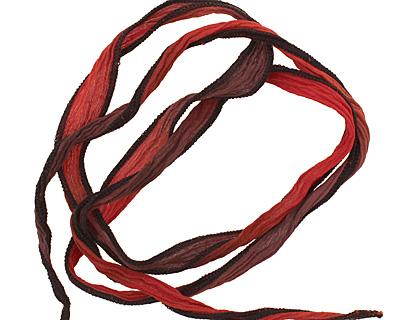 El Toro w/ Black Edges Hand Dyed 100% Silk Ribbon 1/2