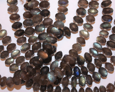 Labradorite Faceted Rondelle 11mm