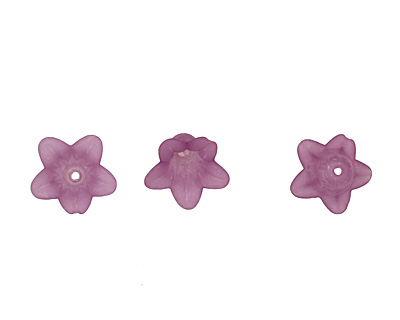 Lucite Lilac 5 Petal Small Bellflower 12x18mm