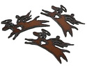 The Lipstick Ranch Rusted Iron Angel Puppy Pendant 68x40mm