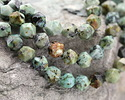 African Turquoise Star Cut Round 8mm