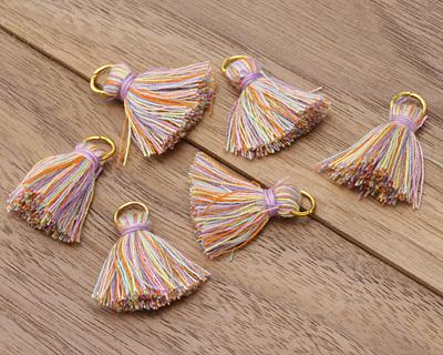 Spring Fling w/ Jump Ring Thread Tassel 20mm