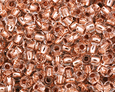 TOHO Crystal (with Copper Lining) Round 11/0 Seed Bead