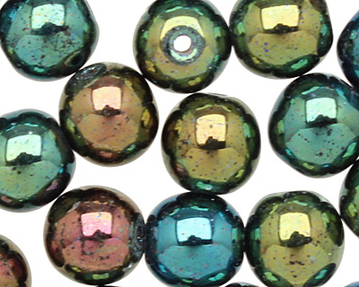 Czech Glass Iris Green Round 6mm
