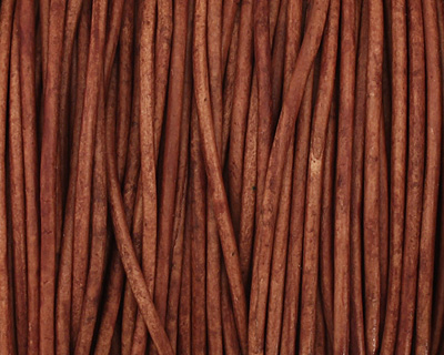 Natural Light Brown Round Leather Cord 1.5mm