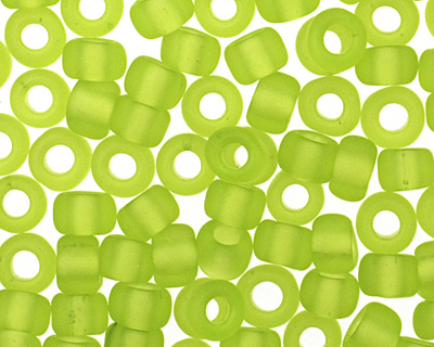 TOHO Transparent Frosted Lime Green Round 8/0 Seed Bead