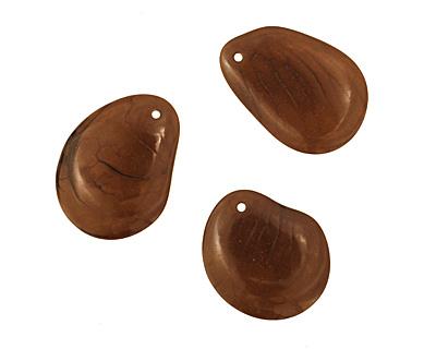 Tagua Nut Olive Groovy Slice 25-35x30-42mm