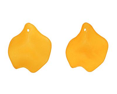 Lucite Mango Petal 25x27mm