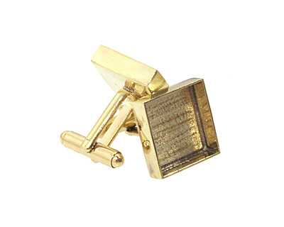 Brass Square Bezel Cuff Link 17mm