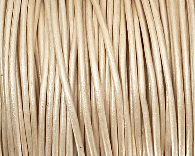 Pearl (metallic) Round Leather Cord 1.5mm