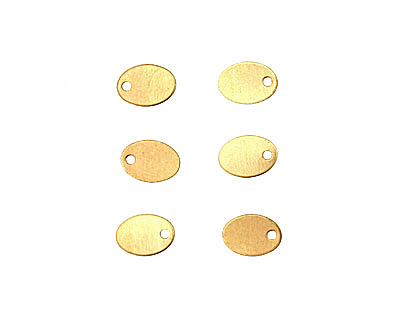 Brass Oval Blank Charm 7x10mm