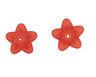 Lucite Scarlet 5 Petal Small Bellflower 12x18mm