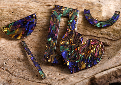 Zola Elements Abalone Acetate Stick Drop 3x39mm