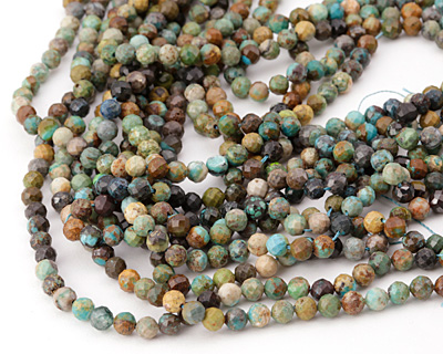 Chrysocolla Faceted Round 5mm