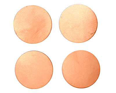 Copper Circle Blank 25mm