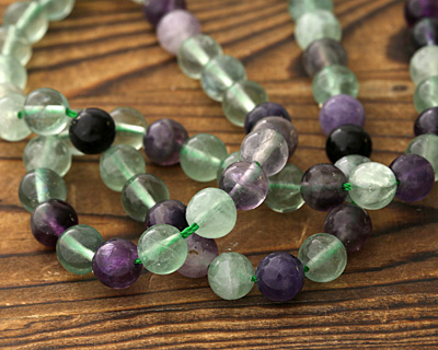 Rainbow Fluorite (more green) Round 8mm