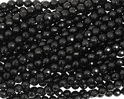 Black Onyx Faceted Round 6mm