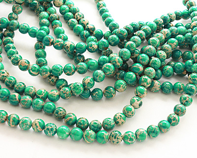 Emerald Impression Jasper Round 8mm