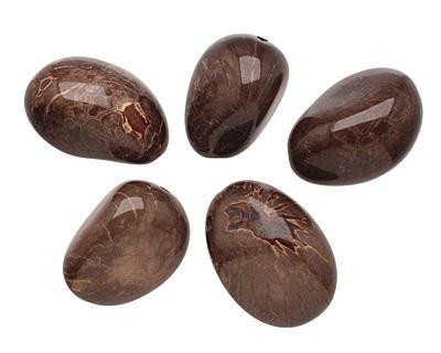 Tagua Nut Espresso Nugget 40-45x32-36mm