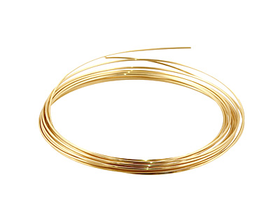 German Style Wire Non Tarnish Brass Square 21 gauge, 2.5 meters