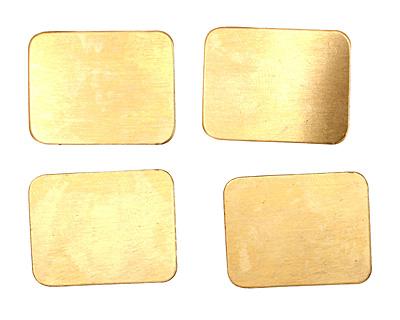 Brass Rectangle Blank 26x20mm