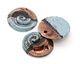 Greek Ceramic Raku Metallic Frosted Copper Large Nautilus Pendant 35mm