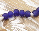African Recycled Glass Cobalt Tumbled Round 10-12mm