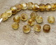 African Recycled Glass Caramel Tumbled Round 12-16mm
