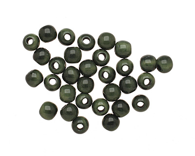 Tagua Nut Forest Green Round 6mm